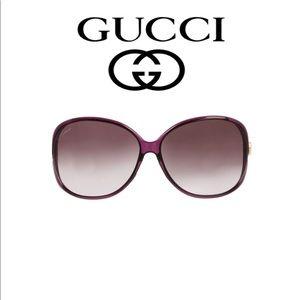 f6ce077b107 Gucci Accessories - Oversized Gucci Purple Sunglasses 62mm Heart Logo